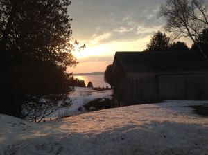 spring sunset on W.I.